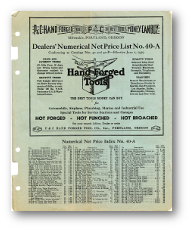 1939 Price Lists