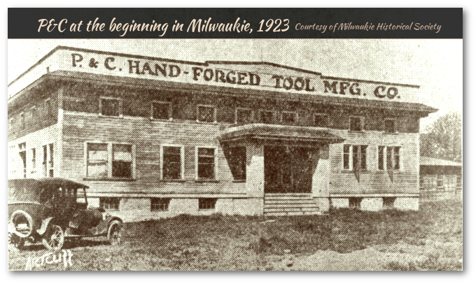 P&C factory at the beginning in Milwaukie, circa 1923