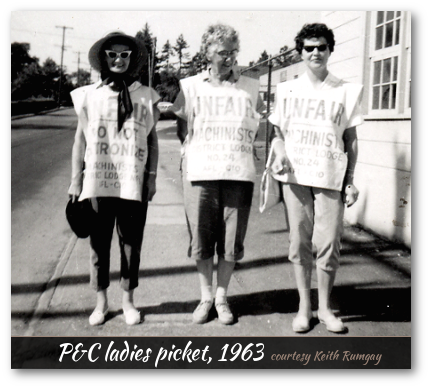 P&C lady employees on the picket line