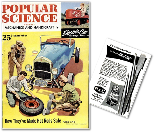 Popular Science cover with P&C ad excerpt