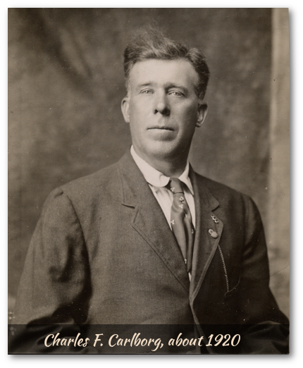 Photo of Charlie Carlborg, circa 1920